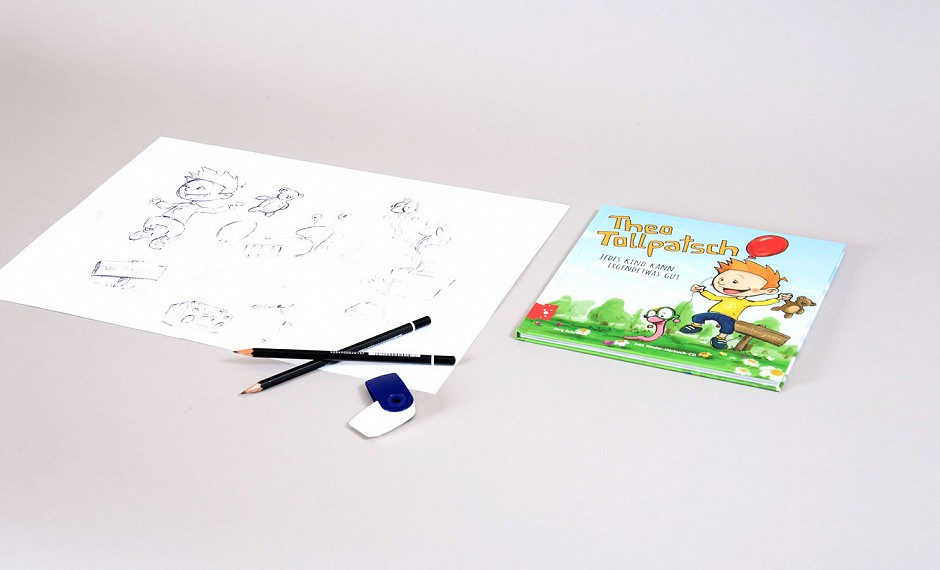 "Entertainment4Kids GmbH: Illustration und Layout des Kinderbuchs ""Theo Tollpatsch"""